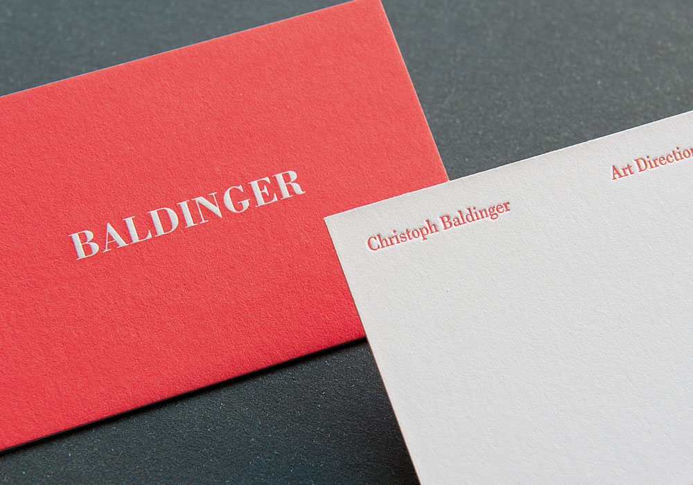 Letterpress Visitenkarten Christoph Baldinger