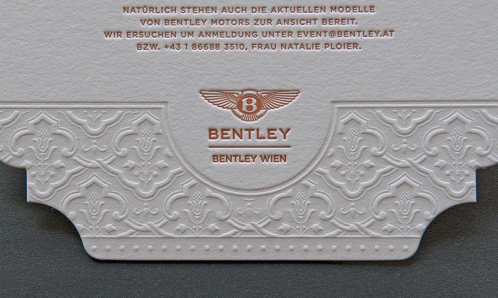 Bentley Wien Einladung