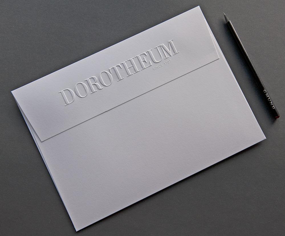 Dorotheum Letterpress Einladung