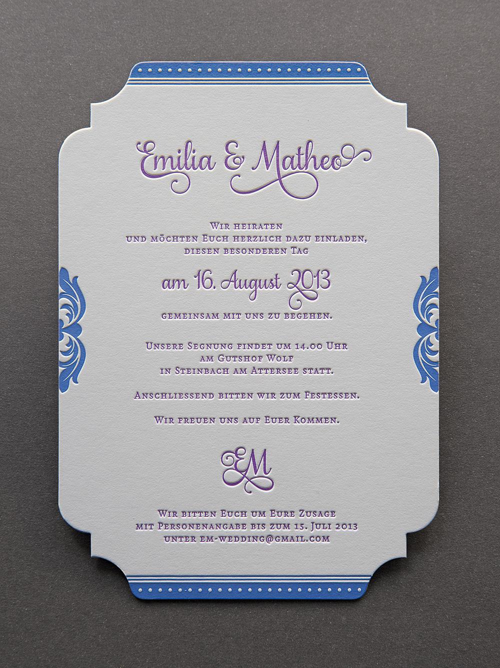 Hochzeit Emilia & Matheo