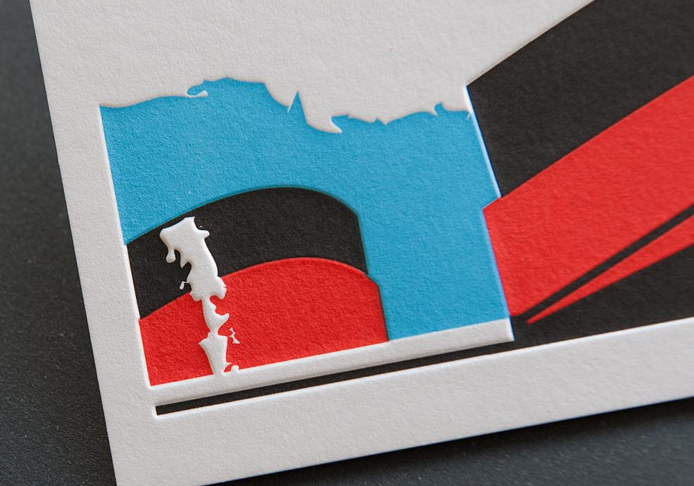Letterpress Invitation Card