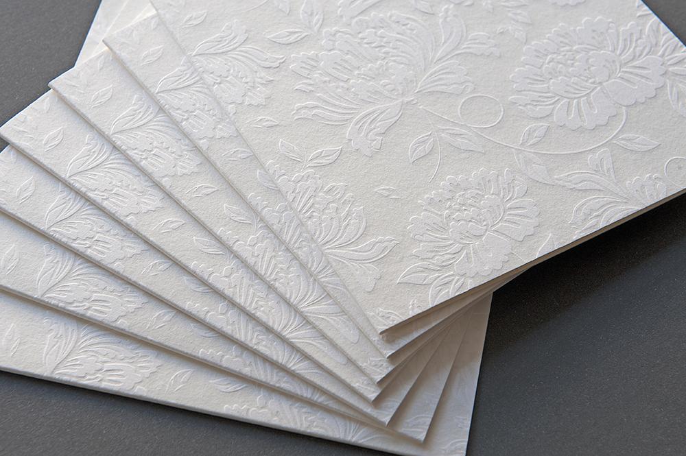 Letterpress Kartenset