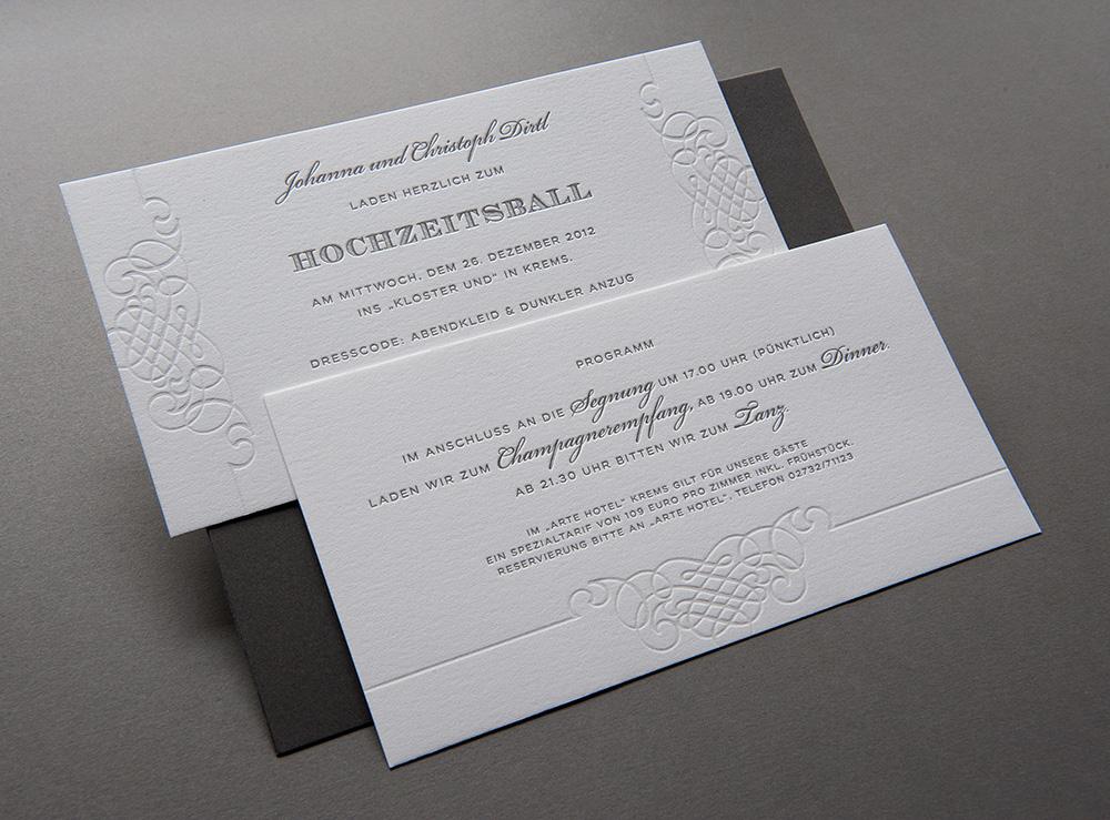 Großartig Letterpress Einladung Hochzeitsball