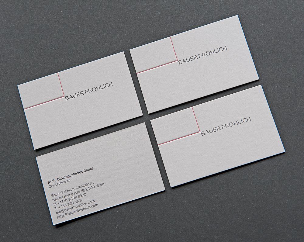 Letterpress-Visitenkarten BauerFröhlich