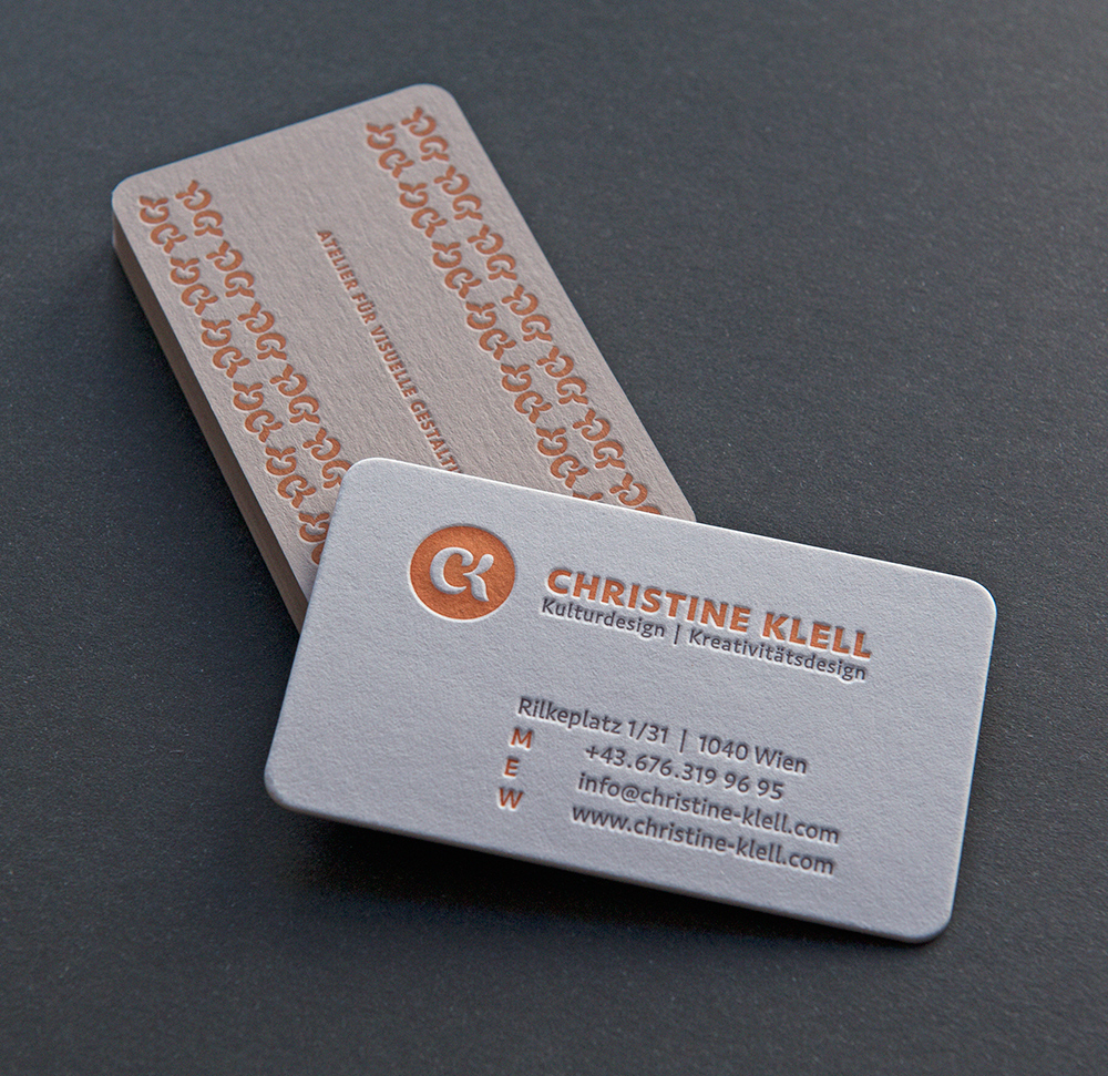 Letterpress Visitenkarten CK