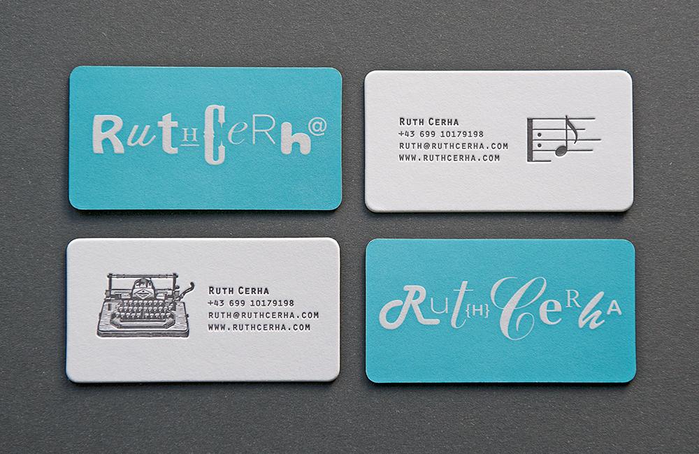 Letterpress Visitenkarten RC