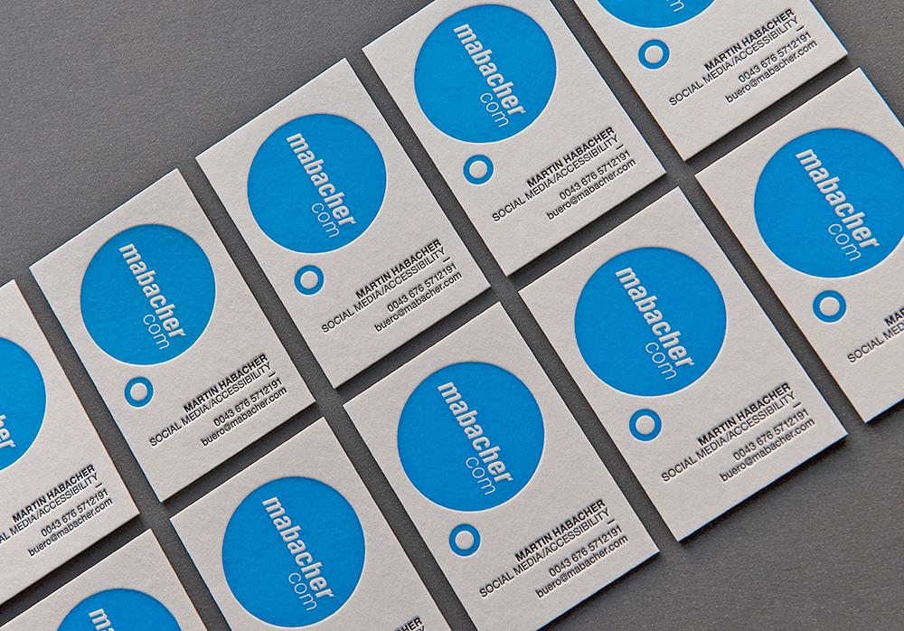 Mabacher Letterpress Visitenkarten