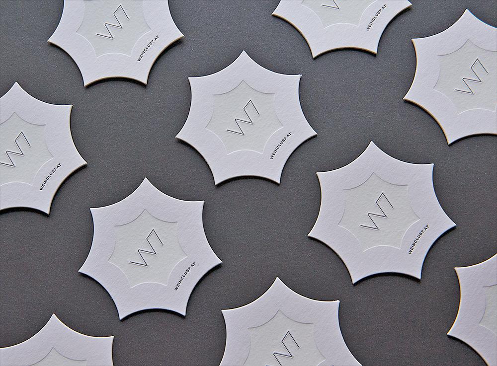 Nachleuchtende Letterpress-Coaster
