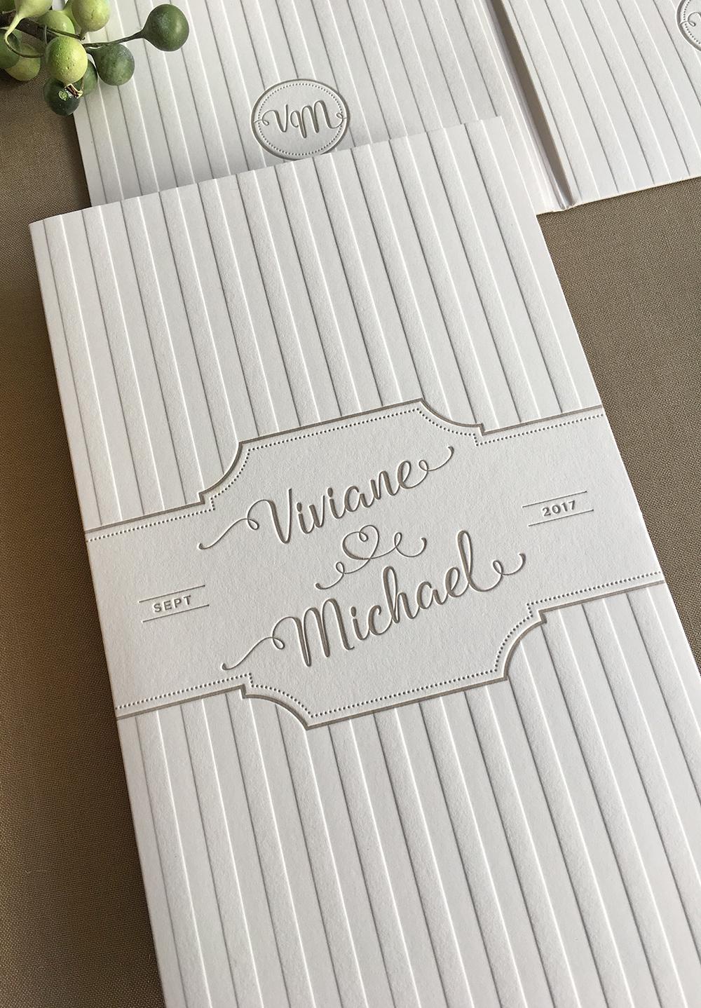 Hochzeitspapeterie Viviane & Michael